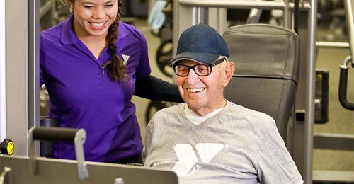 Active Older Adult Working Out At The Y