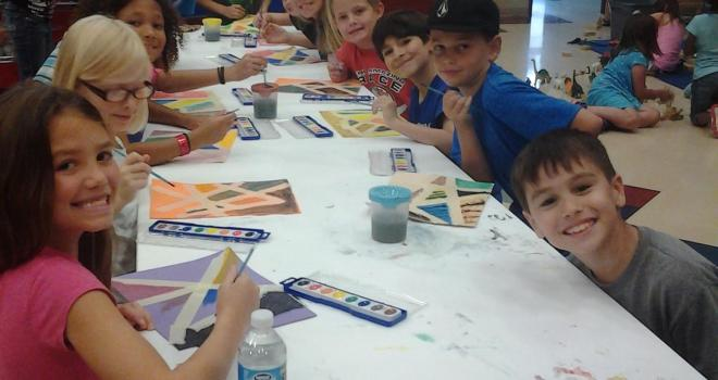 Kids having fun at Y summer day camp!
